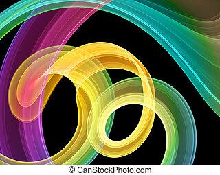 bright multicolored swirls