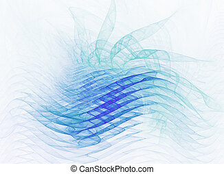 abstract waveforms - cool waveforms - abstract rendered...