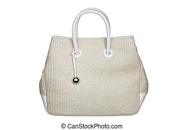 Modern female bag on a white background
