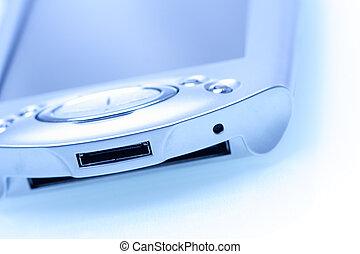 PDA - A shot of PDA in a blue tone