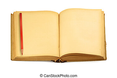 old blank book