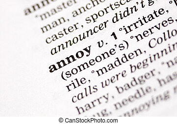 Annoy written in thesaurus - The word annoy written in...