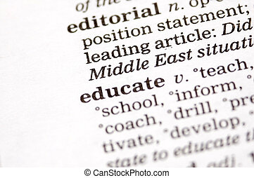 Educate written in thesaurus - The word educate written in...