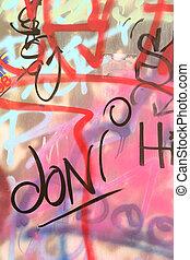 Graffiti - Close up of graffiti on an ruban wall