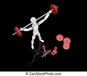 Weightlifter - 3D render of a man lifting weights