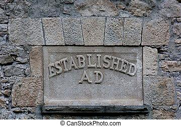 Established Inscription on stones