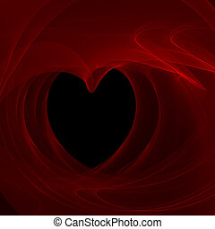 Smokey heart - smokey heart fractal background