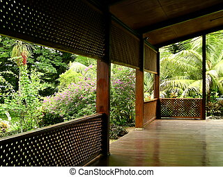 Verandah - Graceful and inviting entryway to the national...