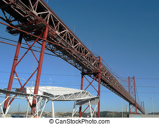 Lisbon 1972 Bridge - Lisbon\\\'s 25th April 1972 steel...
