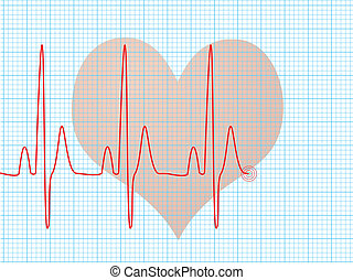 heart beat medical - Medical abstract background showing an...