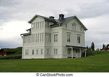 Uninhabited house - Old white uninhabited house