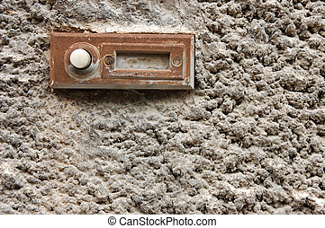 Old doorbell - Old rusty doorbell