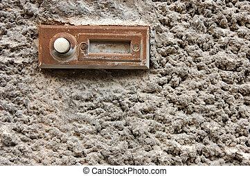 Old doorbell - Old rusty doorbell