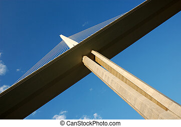 Millau Viaduct  - Pylon of the Millau Viaduct in France