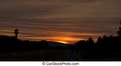 Pleasanton Sunrise - Sunrise over Arroyo Mocho Creek in...