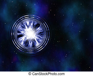 wormhole in space - image of a wormhole or vortex in space