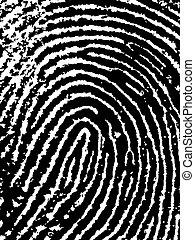 FingerPrint Crop - Close crop of a Fingerprint - Very...