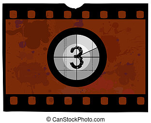 Old Fashioned film countdown at 3 - Old fashioned film count...