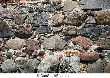 old bricks background - old bricks fortification background...