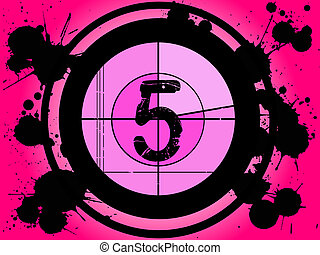 Pink Film Countdown - At 5 - Old Fashioned Film Countdown at...