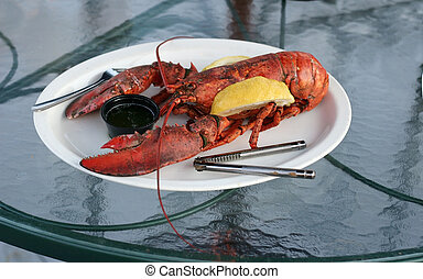 lobster dinner - whole cooked lobster