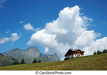 mountain lodge - Mountain lodge in italian alps; in...