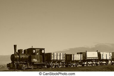 Old train - A vintage train in sepia