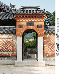 Archway in Oriental Style, Seoul, Korea - One of the Gates...