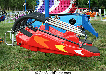 Childrens carnival spaceship ride