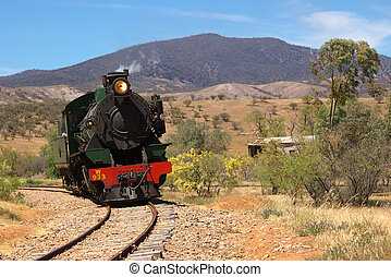 steam train - the pichi richi steam train near port augusta...
