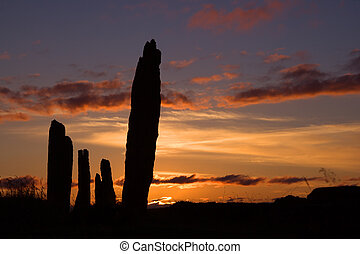 brodgar five - A portion of the neolithic site, the Ring of...