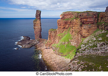 old man of hoy - The Old Man of Hoy, rising 137 metres from...