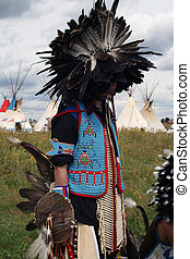 Indian chief with a headdres