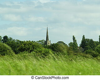 Church Spire - Traditional English Countryside, with church...