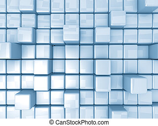 Abstract Background - Cubes - Computer Generated Images -...