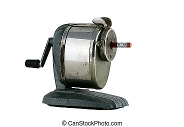 Old School House Pencil Sharpener - Old manual pencil...