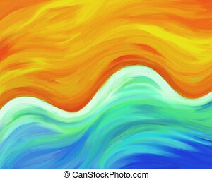beach background - paint effect textured sandy beach...