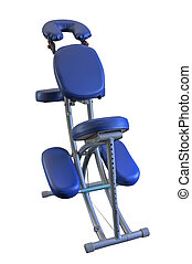 Massage Chair - Blue Massage Chair, isolated.