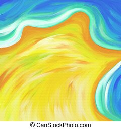 beach background - paint effect textured sandy beach border...