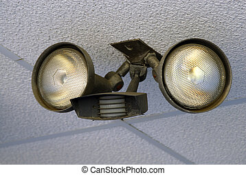 Motion Sensor Light - Motion sensor light mounted on a...