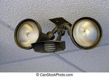 Motion Sensor Light - Motion sensor light mounted on a...