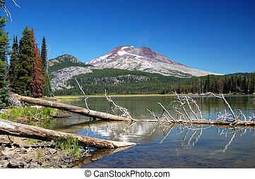 Oregon Cascades - Mountain in Oregon reflecting at the...