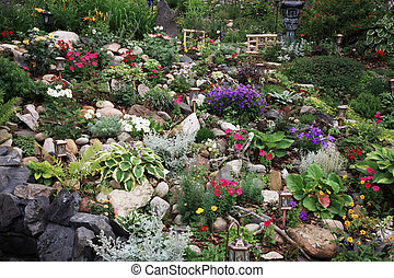 Extreme Gardening - A beautiful perennial garden planted on...