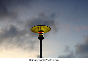Lamp post - A moderm street lamp over the evening sky