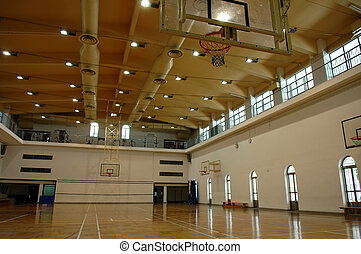Basketball court - A prespective view of basketball court