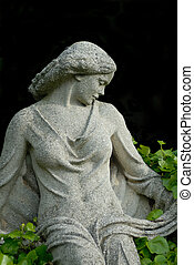 Stoned beauty - statue from a woman