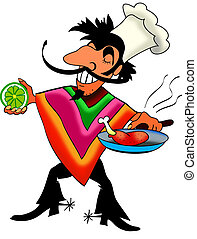 Mex cook - Funny Mexican cook cooking and...