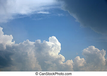Clouds - The image of white clouds on a background of the...