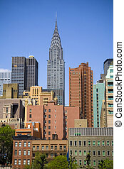 Chrysler Building - Chrysler building on skyline in New York...