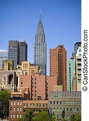 Chrysler Building - Chrysler building on skyline in New York...